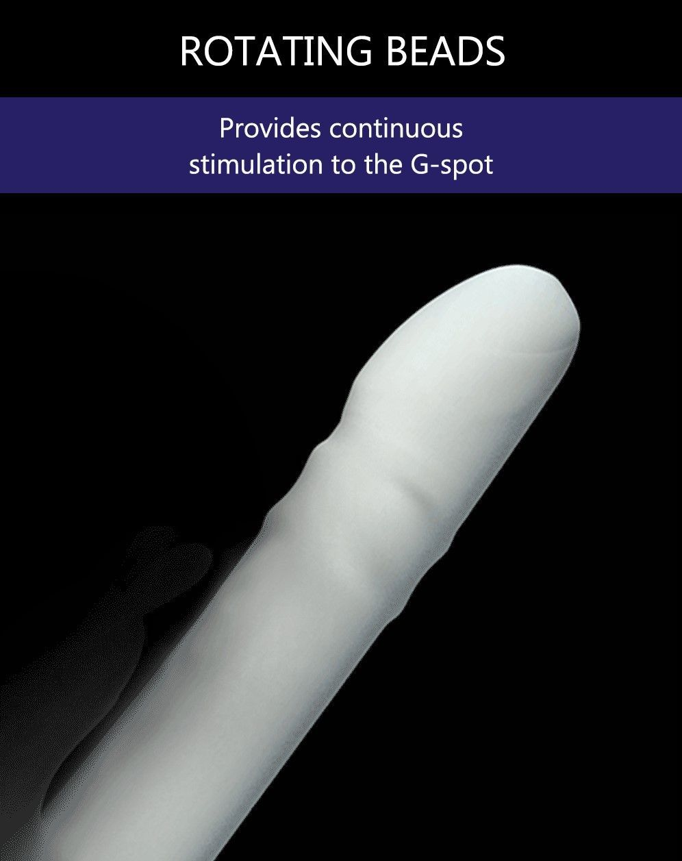 Drywell - Rotating & Thrusting Rabbit Vibrator - White photo-6
