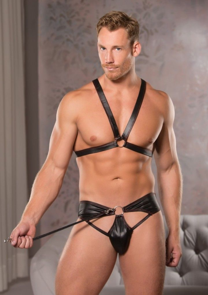 Allure - Ring Harness & Thong - Black - L/XL photo-3