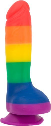 Addiction - JUSTIN 8″ Dildo With Balls - Pride Colours photo-4