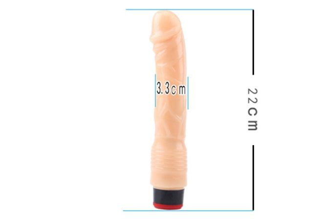 Chisa - 9″ Vibe Cock TPE - Flesh photo-10
