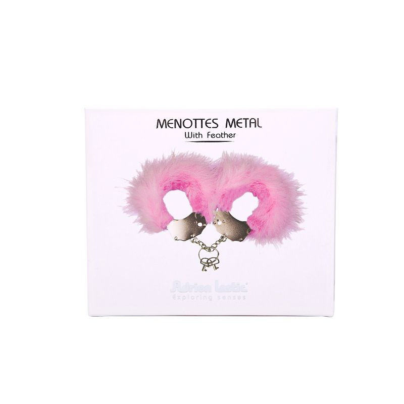 Adrien Lastic - Menottes Metal Feather Cuffs - Pink photo-4