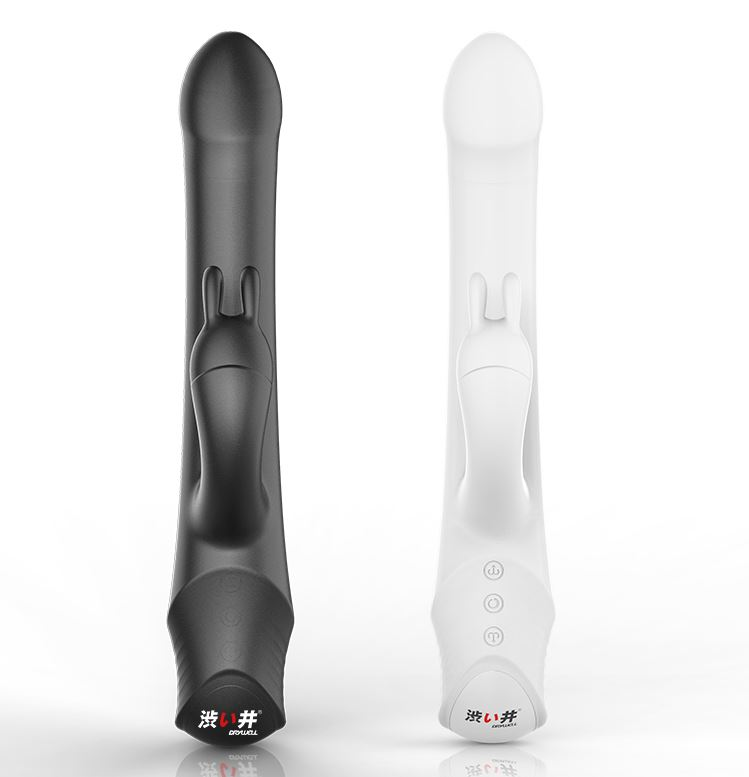 Drywell - Rotating & Thrusting Rabbit Vibrator - White photo-16