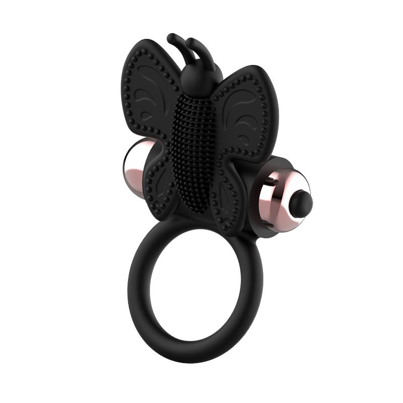 Coquette - Butterfly Vibro Ring - Black photo