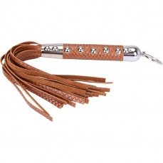 MT - Snake Skin Whip 47cm - Brown photo