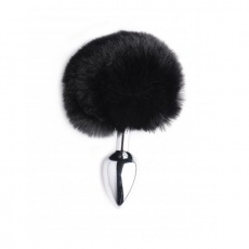 Tailz - Onyx Bunny Tail Metal Anal Plug - Black photo