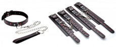Frisky - Heartache 5 Piece Bondage Set - Black photo