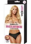 Latex Wear - Premium Latex Brazilian Bikini - Black - SM