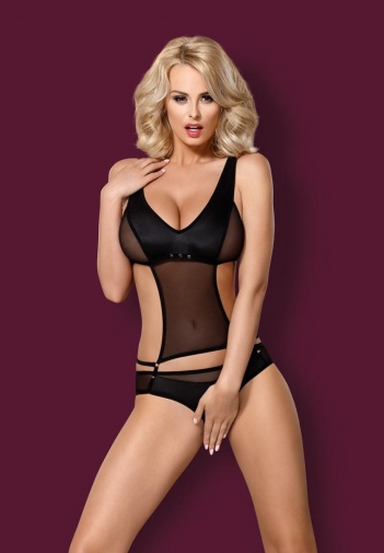 Obsessive - 823-TED-1 Teddy - Black - S/M photo