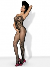 Obsessive - Bodystocking F205 - Black - S/M/L photo