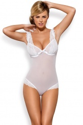 Obsessive - Julitta teddy - White - S/M