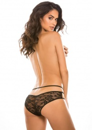 Allure - Crotchless Sweet Heavens Panty - Black photo