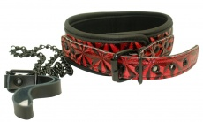 Aphrodisia - Collar with Leash - Red photo