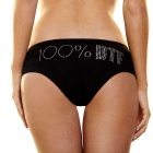 Hustler - Bling Booty Short '100%' - Black - SM