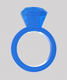 Chisa - Diamond Cock Ring - Blue photo