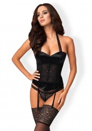 Obsessive - Ailay Corset & Thong - Black - S/M photo