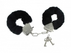 Frisky - Fur Lined Handcuffs - Black photo