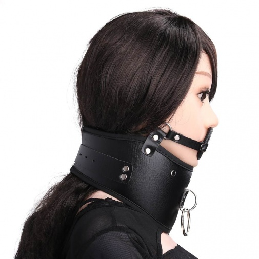 MT - Collar with Open Mouth Gag photo