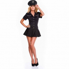 Hustler - 2PC Police Officer Set - Black - ML photo
