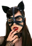 Leg Avenue - Wet Look Cat Mask - Black