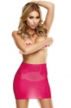 Latex Wear - Premium Latex Rear View Mini-Skirt - Pink - SM