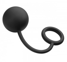 TOF - Silicone Cock Ring with Heavy Anal Ball