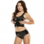 Latex Wear - Premium Latex Crop Top & Hot Pants Set - SM