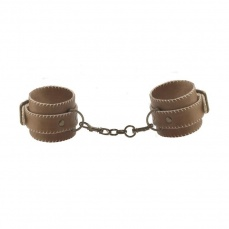 Shots - Leather Hand Cuffs - Brown photo