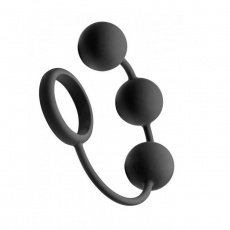 TOF - TOF Silicone Cock Ring w/ 3 Weighted Balls photo