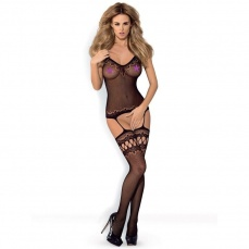 Obsessive - Bodystocking F214 - Black - S/M/L photo