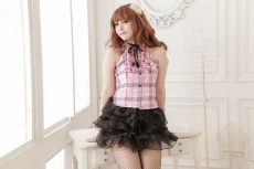 SB - Casual Dress Costume S117 - Pink photo
