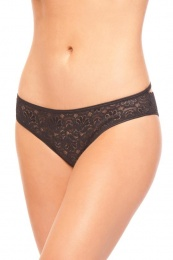 BeWicked - BW1707 Lace Panty w Rhinestone - Black - S photo