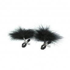 S&M - Feathered Nipple Clamps - Black photo