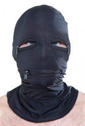 Fetish Fantasy - Zipper Face Spandex Hood with Mouth and Eye Holes photo