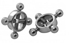 Master Series - Rings of Fire Nipple Press Set - Silver photo
