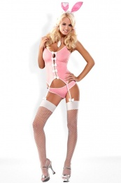 Obsessive - Bunny Suit Costume 4 pcs - Pink - S/M photo