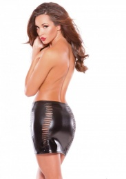 Allure - Slashed Skirt - Black photo