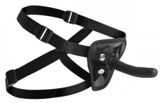 Strap U - Pegged Pegging Dildo with Harness - Black photo