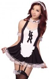 Costume Garden - GB-121 Ribbon Sexy Maid Costume photo