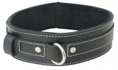 Sportsheets - Edge Lined Leather Collar - Black photo