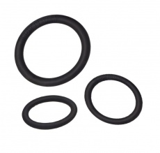 Toynary - CR01 Soft Cock Rings - Black photo
