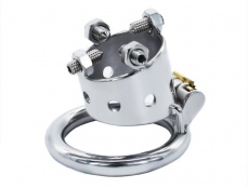 FAAK - 4 Bolts Chastity Cage 45mm - Silver photo