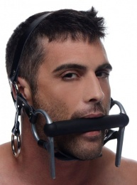 Master Series - Steed Silicone Bit & Bridle Head Harness - Black photo