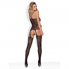 Obsessive - Bodystocking F218 - Black - S/M/L photo
