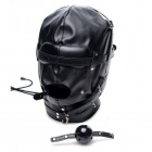 Strict - Bondage Hood with Breathable Ball Gag - Black