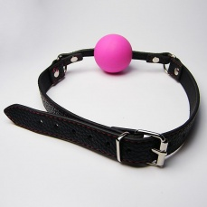 XFBDSM - Silicone Ball Gag - Pink photo