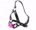 XFBDSM - Silicone Harness Ball Gag - Pink