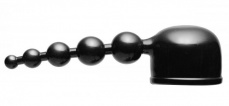 Wand Essentials - Bubbling Bliss Beaded Pleasure Wand Attachment - Black photo