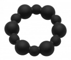 Master Series - Shadow Silicone Beaded Cock Ring - Black