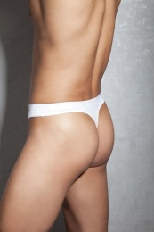 Doreanse - G-String w Zipper - White - S photo