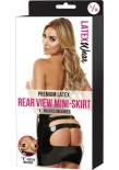 Latex Wear - Premium Latex Rear View Mini-Skirt - Black - SM